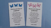 Personalised Forget Me Not Seed Pack Thank You Gift Present Godmother Godfather
