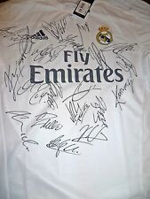 HAND SIGNED REAL MADRID SHIRT 2015/16 CHAMPIONS LEAGUE WINNERS SQUAD