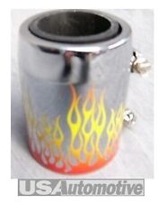 "Chromed Alum Flame 1-3/4"" Rad Hose  Cover Cap WA7319-1"
