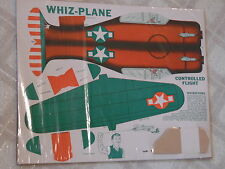 NOS Vintage Toy Whiz Plane ~ Controlled Flight Model Airplane Premium Un-cut !!