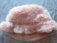Girl's Boutique Cach Cach Pink Faux Fur Hat NEW Cachcach 5 6 7 8 L Butterfly