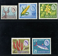 Rhodesia 1967 QEII Dual Currency Issue set complete MNH. SG 408-412. Sc 245-248A