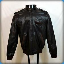 Vtg 80s MEMBERS ONLY Cafe Racer Leather MOTORCYCLE Biker JACKET Mens 40 M Brown