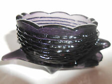 black Amethyst purple glass Wheelbarrow toothpick holder salt dip / cellar celt