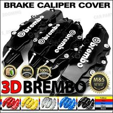 3D Universal Style Brembo Brake Caliper Cover front and rear 4 pcs Black BC02