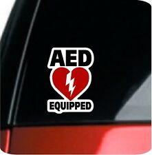 """2 - 5"""" AED Equipped Decal Stickers Medical  Emergency Vehicle Defibrillator 1909"""