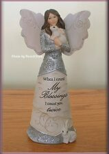 COUNT YOUR BLESSINGS ANGEL WITH BUNNIES BY PAVILION ELEMENTS FREE U.S. SHIP