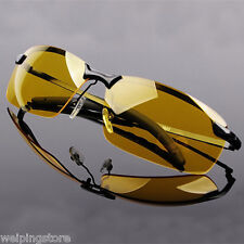 Men's High-End Polarized Sunglasses Goggles Driving Eyewear Glasses Night Vision