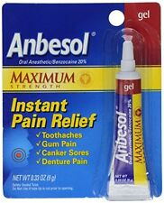 4 Pack - Anbesol Gel Maximum Strength 0.33oz Each