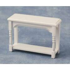 Small White Wood Side Table, Dolls House Miniatures, 1.12 Scale Furniture