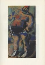 "1961 Vintage ROUAULT ""WRESTLER, or THE PARADE"" STRONG COLOR Art Print Lithograph"