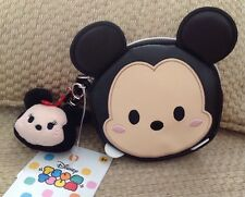 NWT DISNEY STORE TSUM TSUM MICKEY MOUSE COIN PURSE WITH MINNIE CHARM WALLET