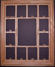 School Years K-12 Photo Collage insert and Oak picture frame size 11x14