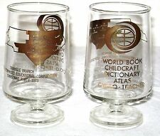 1973 World Book Childcraft Encyclopedia Employee's Christmas Party Bar Glasses