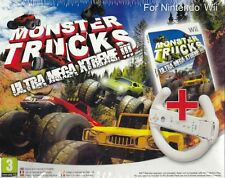 Nintendo Wii Bundle pack «MONSTER TRUCKS ULTRA MEGA XTREME + VOLANTE» nuovo