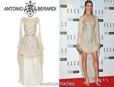 Antonio Berardi Runway Silk GOWN Dress Rosie Huntington it42 UK8-10 RRP3880GBP