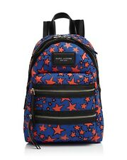 NWT Marc Jacobs Blue Flocked Stars Printed Biker Mini Backpack Bag New  ($250)