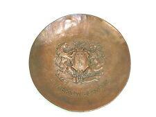 Piastra in ottone piastra a 1900 Polonia Gdansk Cappotto delle armi