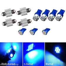 11PCS Blue LED Lights Interior Package T10 31mm Map Dome For Hyundai Infiniti