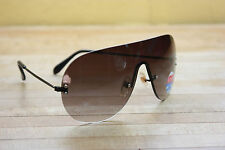 Vintage Aviator sunglasses new 80's UV400 wings black lens frameless