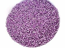 100g 2mm 11/0 Glass Seed Beads - PURPLE SILVER LINED