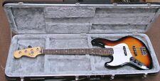 Left Hand Fender MIM Jazz Bass with Hard Case
