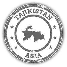 Tajikistan Map Asia Grunge Rubber Stamp Car Bumper Sticker Decal 5'' x 5''
