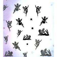 New Card-io Majestix Clear Stamps Enchanted Garden Fairies