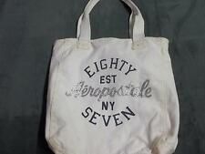 White Aeropostale tote bag ladies women girls purse handbag brand name clothing