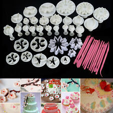 New 47pcs Cake Decoration Mold Tools Set Sugarcraft Icing Cutters Plungers