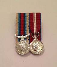Court Mounted Afghanistan no Clasp, Diamond Jubilee Medal, Miniature, Op Herrick