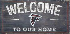 """Atlanta Falcons Welcome to our Home Wood Sign - 12"""" x 6""""  Decoration Gift"""