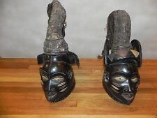 "Arts of Africa - Yoruba King & Queen - Nigeria - Benin - Togo - 30"" Height 12"" W"