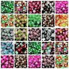 Two Tone Round Glass Crackle Beads 400 - 4mm 200 - 6mm 100 - 8mm  50 - 10mm ML