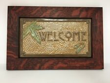 Fay Jones Day Gingko Welcome Tile Framed  Arts & Crafts Mission Style Oak Park