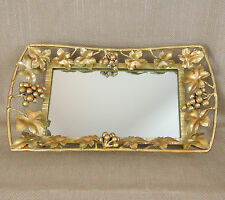 Vintage Mirrored Tray Mirror Dressing Table Display Stand Ornate Fancy Vtg