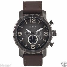 Fossil Original JR1424 Men's Nate Brown Leather Watch 50mm