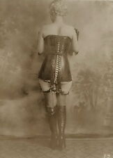 Shoe Fetish w Lace-up Boots group of 4 vintage silver gelatin photographs c1920s