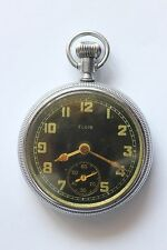 Antique  Military  Pocket Watch     ELGIN    black dial