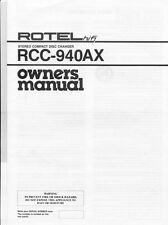 Rotel RCC-940AX CD Changer Owners Manual