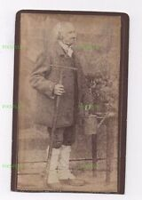 CDV PHOTO BALLINGORE HOUSE GARDENER KILBEGGAN WESTMEATH IRELAND ANTIQUE 1881