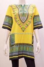 PLUS SIZE DASHIKI AFRICAN TRIBAL FESTIVAL HIPPY SHIRT TOP YELLOW MIX  22 24 26