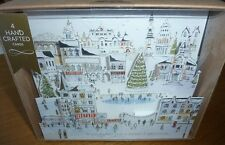 Marks & Spencer box of 4 hand crafted m&s pop-up Cityscape scene christmas cards