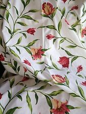 "Ready Made Lined Curtains 100"" Wide X 90"" Drop French Red Lily Quality Fabric"