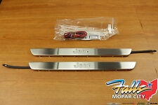 2011-2017 Jeep Grand Cherokee Illuminated Sill Guards Plates Mopar 82212120