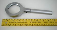 Magnifying Glass 3x LED Lighted Mag Magnifier Heavy Alloy Nice Gift -NEW-