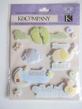K&CO DIMENSIONAL STICKERS - NEW BABY
