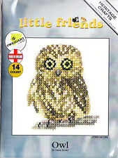 LITTLE FRIENDS - OWL - HERITAGE CRAFTS COUNTED CROSS STITCH KIT