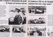 Publicité Advertising 026 1966 Champion bougies avec Jim Clark (2 pages)