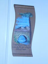 DUTCH ANTIQUE WOODEN HAND PAINTED PLAQUE *NO DAY IS SO HOT ON THE WATER *ADAGE
